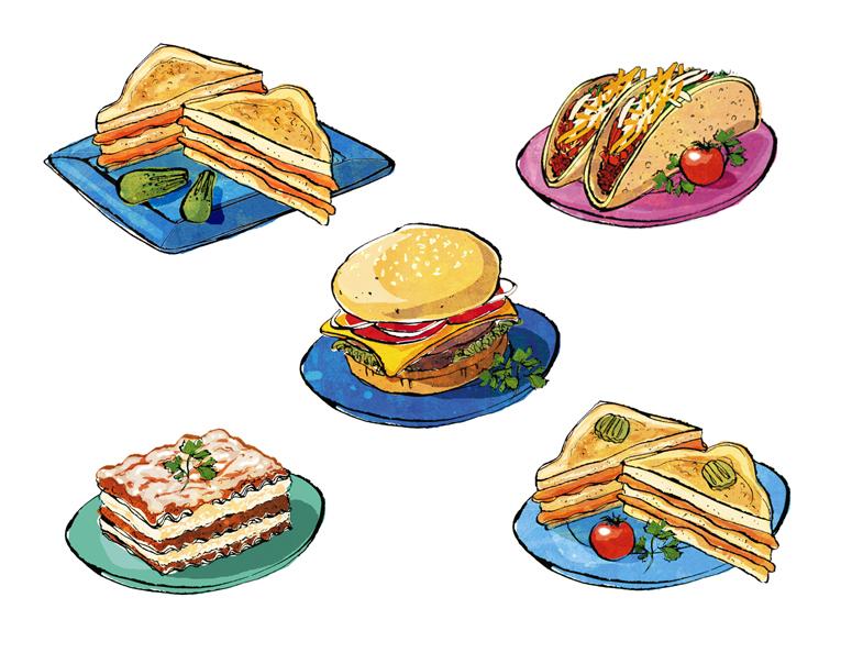 lucerne's food illustrations book 1 | greg stevenson: gregstevenson.com/?portfolio=lucerne's-food-illustrations-book-1